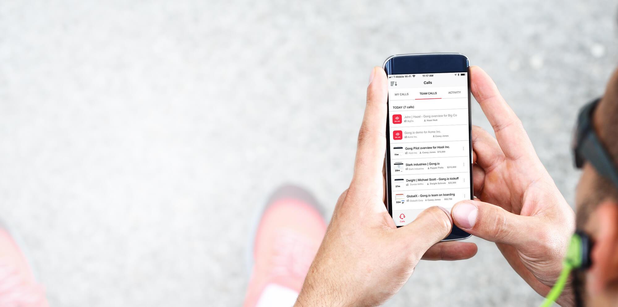 Gong Mobile App