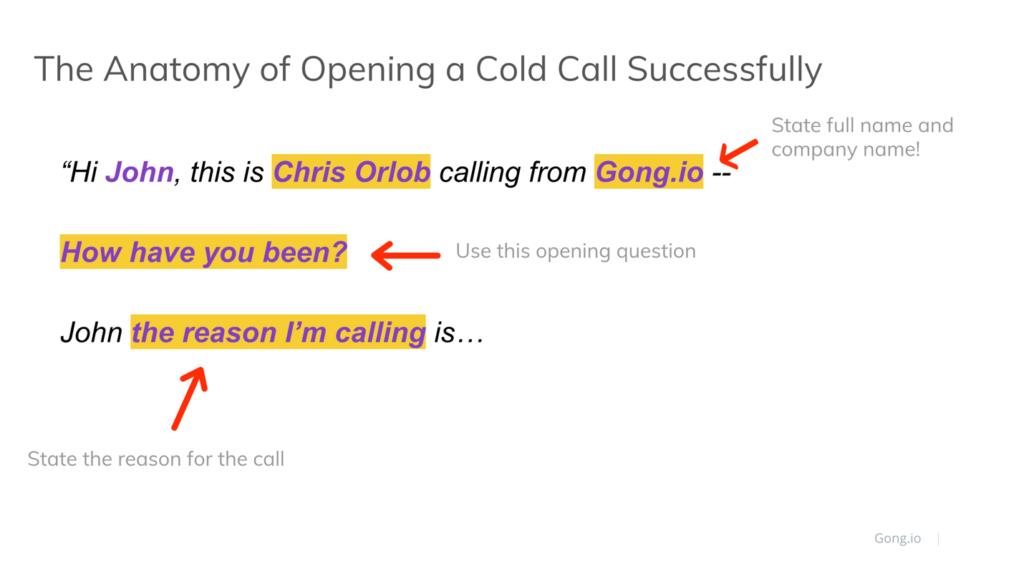 Cold calling script