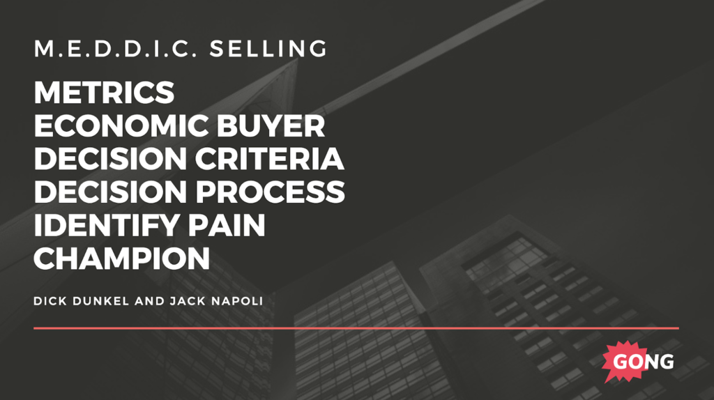 The MEDDIC sales methodology
