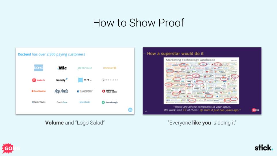 Sales presentation proof