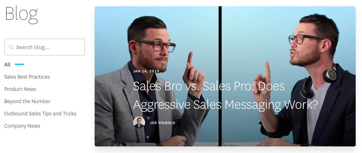 Best sales blog - Outreach