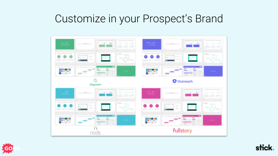 Customize your sales pitch within your prospect's brand