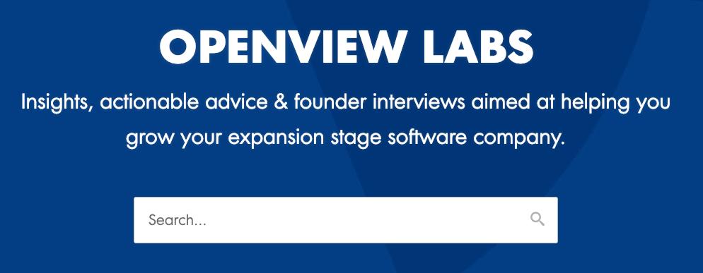 Best sales blog - Openview