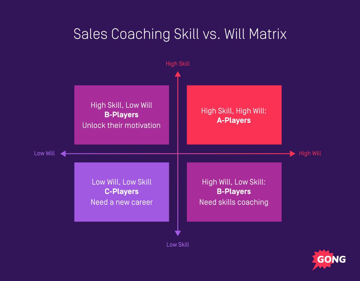 Sales coaching matrix