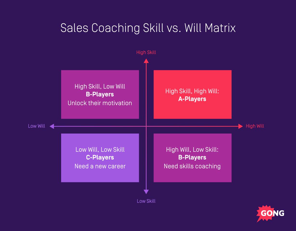 Sales coaching matrix