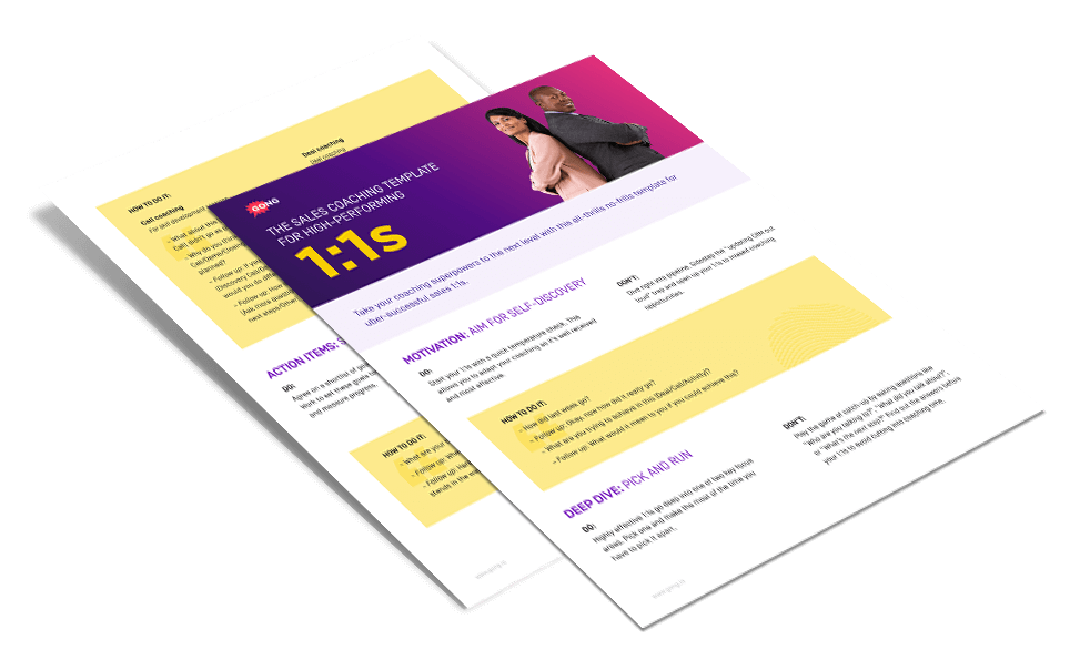 sales coaching template
