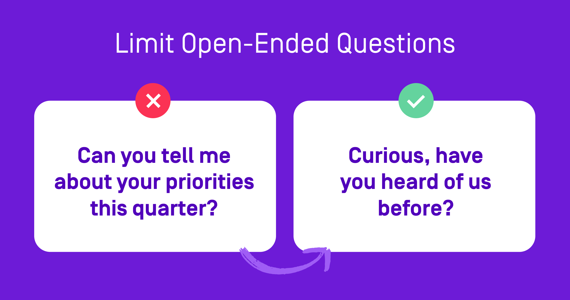 limit open-ended questions