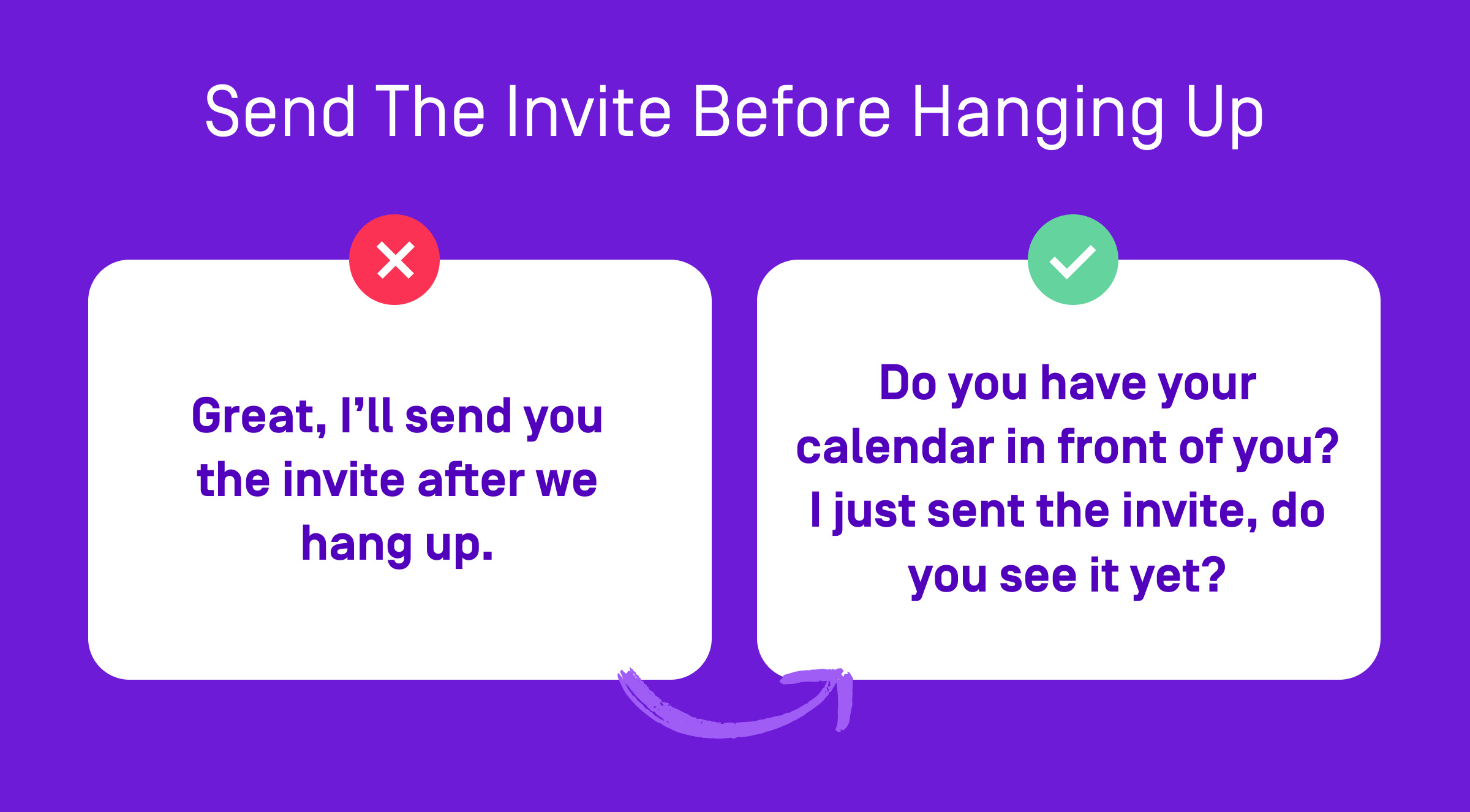 invite before hanging up