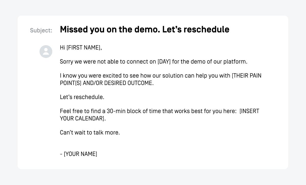 meeting no show