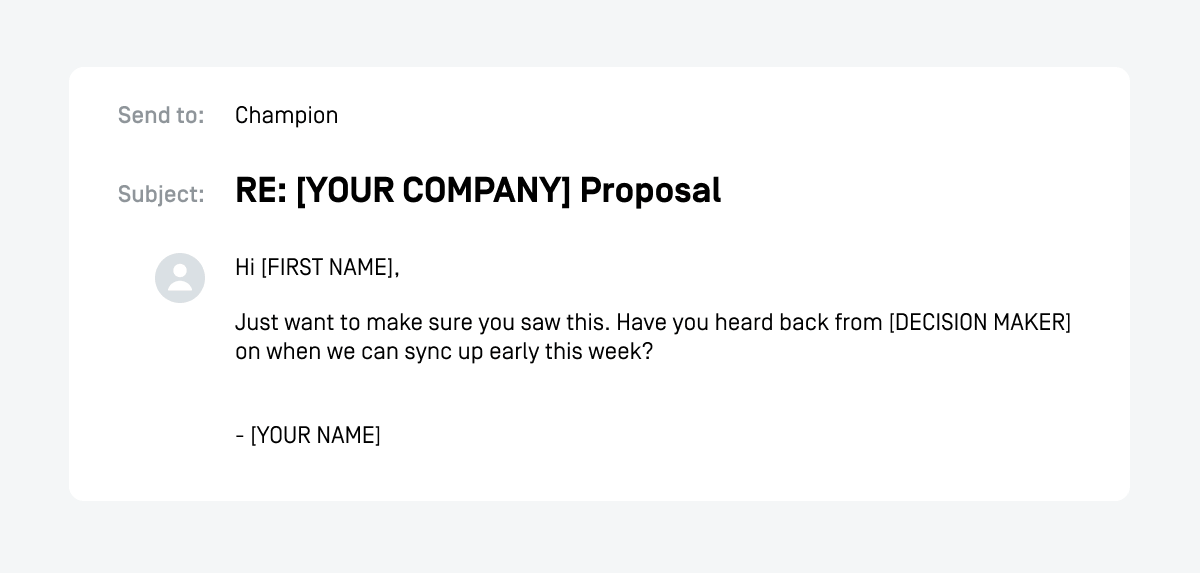 sales proposal email